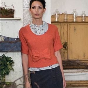 Anthropologie Guinevere Russica knit bow sweater